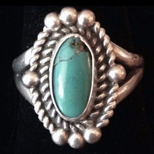 Native AmericanTurquoise Sterling Silver Ring 7